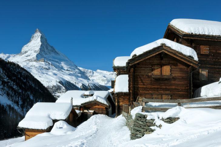 In Zermatt, winter sports fans enjoy low-emission air.