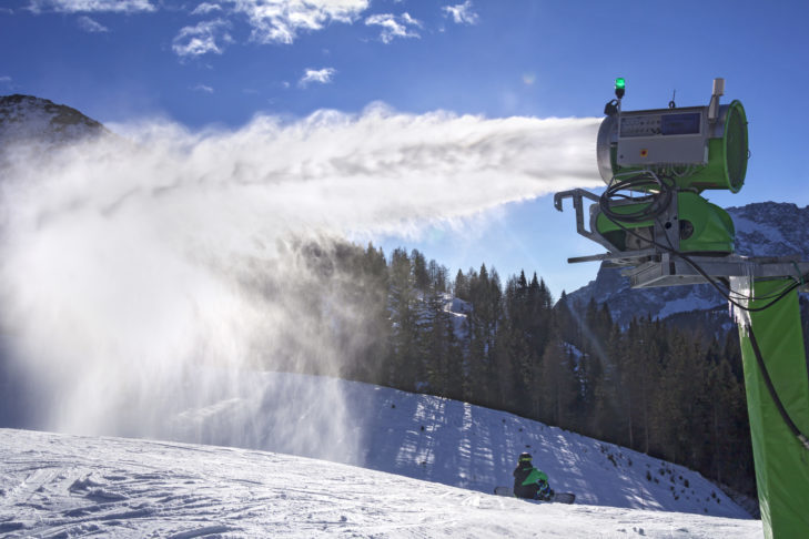 The truth: Even artificial snow can be powdery.