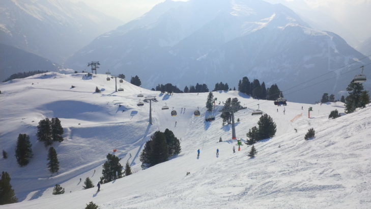 Pistes and combination lift at the action mountain Penken.