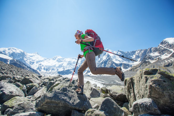 Hiking boosts the cardiovascular system and increases fitness.
